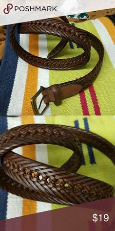 ABE LEATHER BELT. Fits medium to large ABE LEATHER BELT. Beautiful belt. Like new. Fits medium to large ABE Accessories Belts