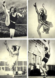 Joan Crawford's famous Charleston kick as captured in the year 1926.