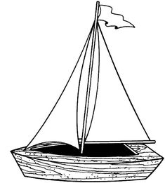 Traditional Fishing Boat Coloring Pages | Kids Play Color | For use ...