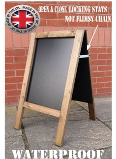 WOODEN A-BOARD MADE IN UK WITH UK WOOD