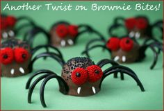 Halloween brownie pops- the possibilities are endless.