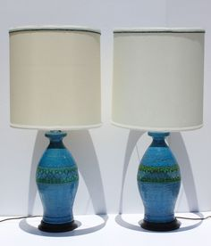 Vintage Pair of Mid Century Modern Bitossi for Raymor by Modnique, $450.00