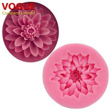 Exquisite Quality DIY Chrysanthemum Flower Cake Molds Fondant Silicone Molds Candy Moulds SGS N1911(China (Mainland))
