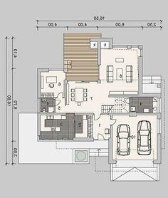 LK&984 208.83 m2 | Projekt domu z poddaszem | projekty domów | kreoDOM.pl Modern House Plans, House Floor Plans, House Furniture Design, House Design, Hotel Floor Plan, Architecture Design, Sweet Home, Villa, Flooring