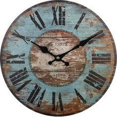 Hand-poured Soy Candle Paris Wall Clock at Joss and Main Paris Wall Clock at Joss and Main Likes, 148 Comments - Tamara Salvetti ( on Instagr. Diy Clock, Clock Decor, Clock Ideas, Clock Wall, Big Wall Clocks, Wall Decor, Pallet Clock, Farmhouse Clocks, Wood Clocks