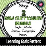 NSW CURRICULUM STAGE 2 LEARNING GOALS ENGLISH MATHS SCIENC