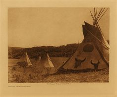 volume 18  facing: page  174 Painted tipis - Assiniboin