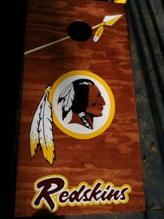 Washington Redskins Cornhole Board