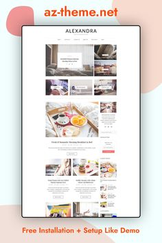 """Alexandra"" A WordPress Blog Theme for Creative People , perfect choice for your personal blog, corporate blog, marketing blog, authority blog or any type of creative blog. Allow your content to shine with Alexandra. Easy installation allows you to start post blogs immediately after the activation. Theme supported Customize which allows you to customize and change design of your blog."