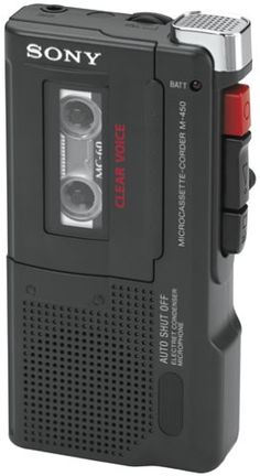 Sony M-450 Microcassette Recorder with 30 Hours of Battery Life Sony,http://www.amazon.com/dp/B00006I5TG/ref=cm_sw_r_pi_dp_xko6sb04VTEASTMH