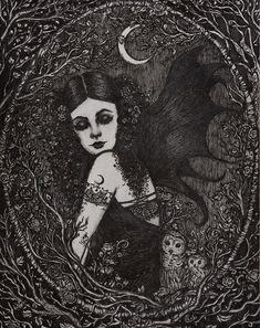 Lilith by ArtbyLadyViktoria on Etsy https://www.etsy.com/listing/228509637/lilith