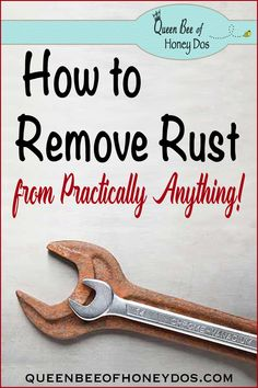 How to Remove Rust from Practically Anything - Each situation is different. Get these simple and easy techniques to remove rust from Queen Bee of Honey Dos! Deep Cleaning Tips, House Cleaning Tips, Cleaning Solutions, Spring Cleaning, Cleaning Hacks, Cleaning Rust, Cleaning Recipes, How To Remove Rust, Removing Rust