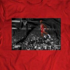 Michael Jordan Slam Dunk Champ Free Throw Custom Mens T-Shirt Many Options Michael Jordan Slam Dunk, Free Throw, Tee Shirts, Tees, Red And White, Congratulations, Jordans, Man Shop, Ebay