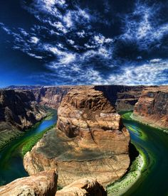 Horseshoe Bend, Colorado River, Antelope Canyon slot canyons, Arizona. Cool place to see!