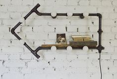 Дизайнерский светильник в стиле лофт ЛАМПА-СТРЕЛКА
