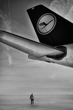 "Lufthansa Airbus A340-313 D-AIFF ""Delmenhorst"" dwarfs an airport worker at Munich-Franz Josef Strauss. (Photo: Bogdan Kramliczek)"