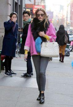 La 'it girl' se cruzó en Nueva York con dos fans que reaccionaron así al reconocerla