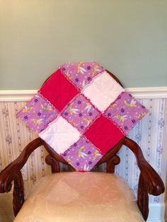 my quilts purple tinkerbell flannel rag security quilt with bright pink and white flannel
