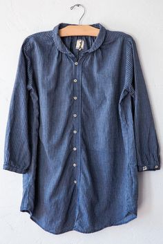 b'sbee indigo club collar shirt