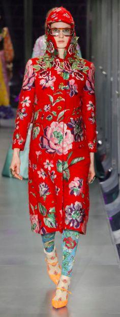 Gucci Outono Inverno 2017/18 MFW - Estampa pátio / Floral