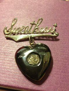 8d08dc74b89 RESERVED 4 ANNATAGG -Sterling Silver Bakelite Vintage 50s Sweetheart Pin  Brooch
