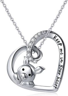 Amazing offer on 925 Sterling Silver Cute Pig Pendant Necklace Earrings Ring Bracelet Women Girls Jewelry Birthday Gift online - Premiumtopstyle Pig Necklace, Love Necklace, Pendant Necklace, Ring Bracelet, Ring Earrings, Jewelry Bracelets, Jewlery, Necklaces, Sterling Silver Anklet