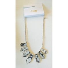 BNWT Statement Necklace  So cute! Snake skin printed, white and gray, statement necklace. Never worn and BNWT!  Charlotte Russe Jewelry Necklaces