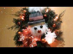 Jana Melas Pullmannová: Venček so snehuliakom Christmas Wreaths, Christmas Tree, Christmas Ornaments, Holiday Decor, Home Decor, Youtube, Xmas, Teal Christmas Tree, Decoration Home