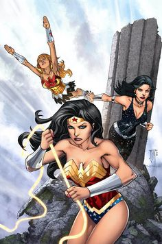 Wonder Ladies by Midimew (Wonder Girl, Wonder Woman, & Troia)