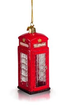 4 Gisela Graham Hanging London Christmas Decoration Taxi Bus Post /& Phone Boxes