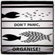 street art 12: Don't panic..organise! #mindfulness #streetart