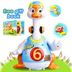 Aipa Dancing Hip Hop Swing Goose Development Musical Fun Toys ** Learn more by visiting the image link. (This is an affiliate link) Little Duck, Little Babies, Duck Sounds, Baby Playroom, Son Love, Cute Toys, Book Gifts, Gifts For Girls, Musicals