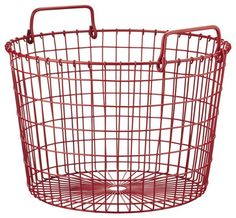 Pix For > Red Wire Basket