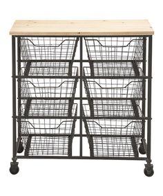 Another great find on #zulily! Wide Mesh-Drawer Storage Cart #zulilyfinds