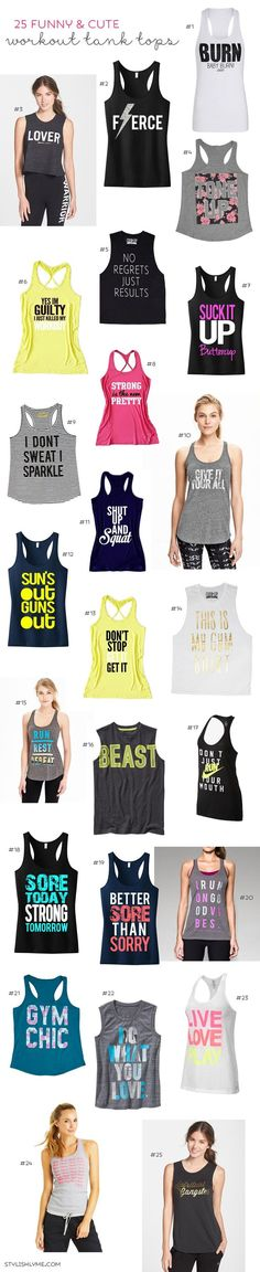 25 Funny & Cute Workout Tank Tops