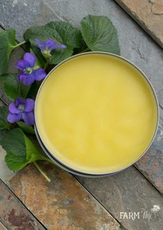 How to Make Violet Leaf Balm for Eczema & Fibrocystic Breasts