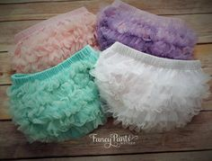 White chiffon ruffle bloomer Baby Diaper by FancyPantsBoutique1