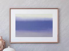Wand Poster Meer, Wand Poster Blau, Malerei Meer, Kunstdruck Meer,  Kunstdruck Blau