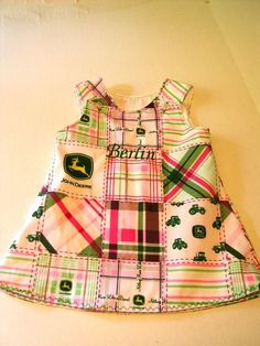 John Deere Dress  @Krystina Linke I think Bailey needs this for her birthday party!