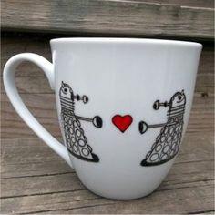 Dr. Who Dalek in Love Coffee Mug
