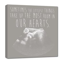 awww love this!! Your Ultrasound Sonogram image as Canvas with sweet baby quote!  by Geezees $119.00
