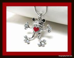 Heart and Frog Pendant.  Shoppingbuyfaith.com