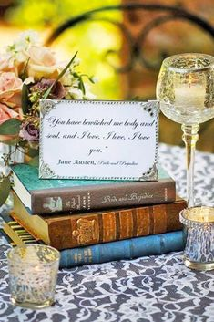 How to tuesday the book themed shower and wedding quirk books 36 stunning non floral wedding centerpieces ideas junglespirit Image collections