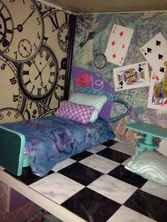 Maddie Hatter room for Ever After High doll house