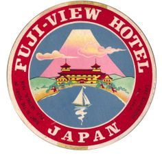 vintage luggage stickers japan - Google Search