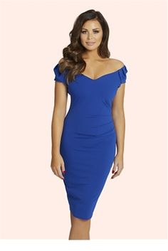 Jessica Wright for Sistaglam Cobalt  Cassidy  ruched bodycon dress 4307e015f