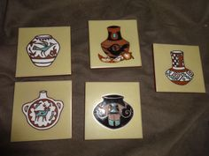 Decorative 4X4 Ceramic Tiles Adorable Artist Cleo Teissedre Hand Painted Ceramic Tile Trivet Coaster Decorating Design