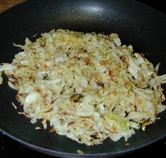 GF Vegetarian Frizzled Cabbage medium green cabbage 2 tablespoons butter (or more if you are feeling decadent) salt and pepper Side Recipes, Vegetable Recipes, Vegetarian Recipes, Healthy Recipes, Primal Recipes, Good Food, Yummy Food, Delicious Dishes, Tasty