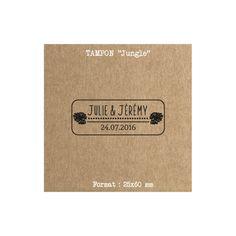 Tampon mariage Tropical en bois et vintage idéal pour agrémenter vos enveloppes, carte de remerciements, étiquettes, cadeaux invités…