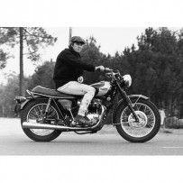 POSTER -STEVE MCQUEEN TRIUMPH MOTORCYCLE